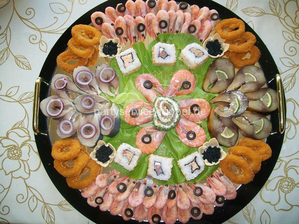 Abendbuffet:Fischplatte