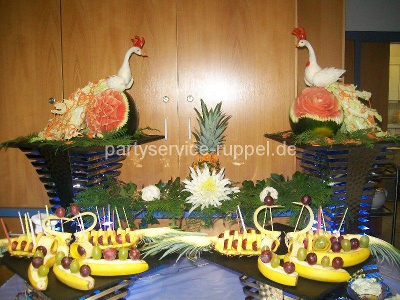 Essbare dekoration carving partyservice ruppel for Essbare dekoration