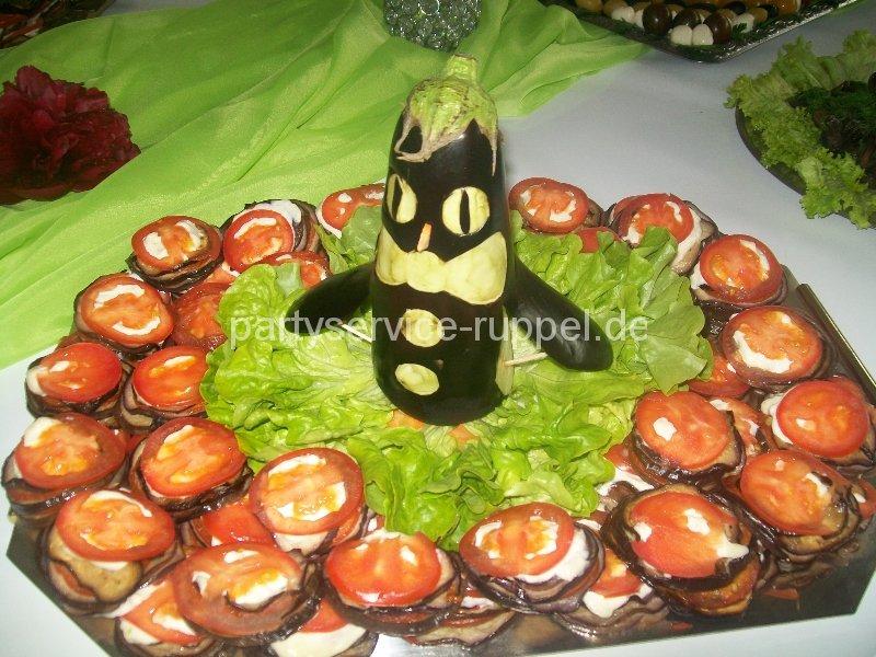 Auberginen-Platte / Жареные баклажаны с помидорами